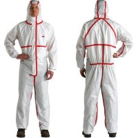 Chemical Protective Coveralls, Disposable, M 3M 25/cs